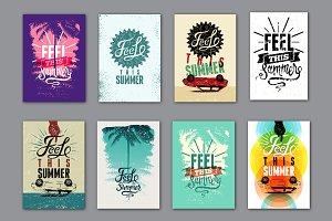 Summer calligraphic grunge poster.