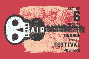 Open Air festival typographic poster