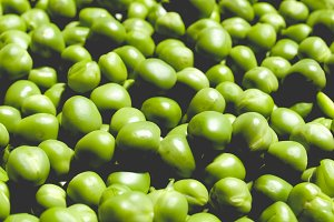 Peas picture, faded vintage look