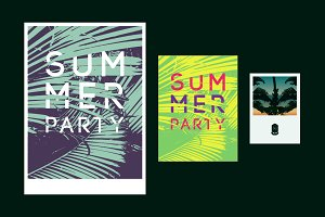 Summer Party typographic poster.