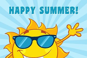 Sun With Text Happy Summer