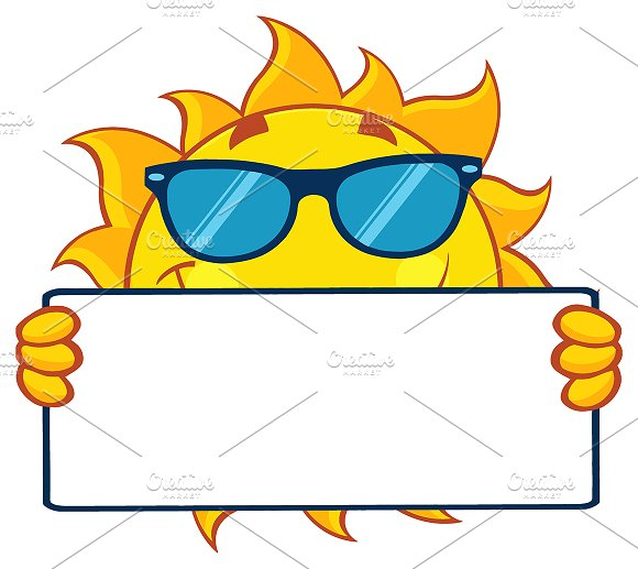 Cute Sun With Sunglasses
