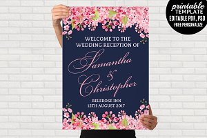 Navy Wedding Welcome poster