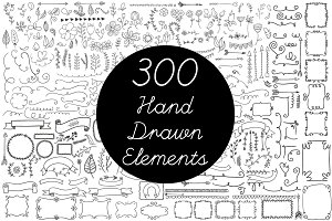 Vector Hand Drawn Elements Vol.2