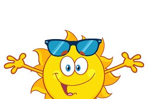 Smiling Loving Sun With Sunglasses