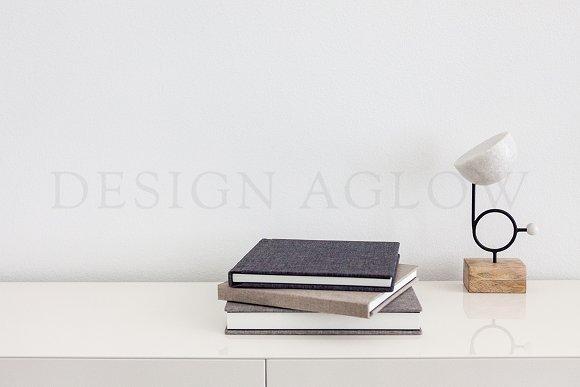 Minimal Album And Desk Stock Image