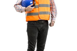 Man worker worker with attitude