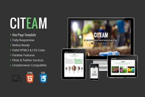 Citeam - Onepage Multipurpose Temp