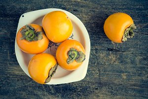 Delicious fresh persimmon
