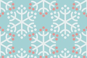 Seamless snow pattern