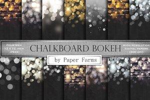 Chalkboard bokeh backgrounds