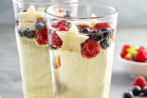Red, blue and white sangria