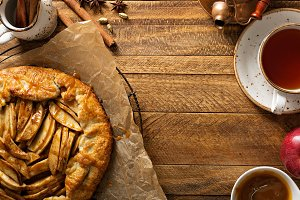 Apple and salted caramel galette