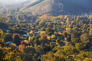 Rural Australian town in Autumn