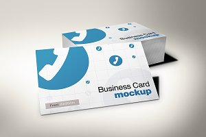 European Size Business Card Mockup 3