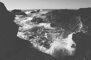 Crashing Wave Black and White