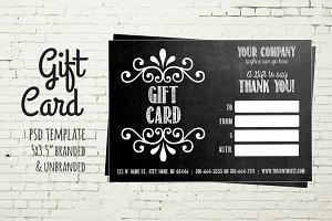 Gift Card Template - Chalkboard Card