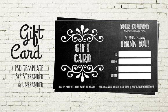 Gift card template chalkboard card business card templates gift card template chalkboard card business cards yadclub Images