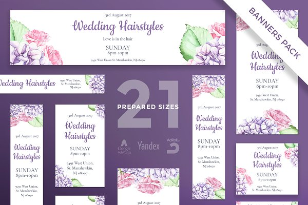 Banners Pack   Wedding Flowers