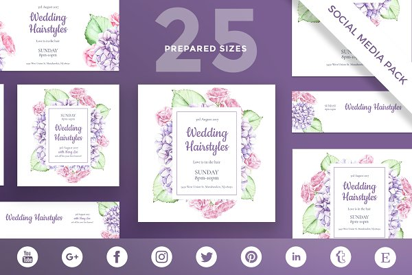Social Media Pack   Wedding Flowers