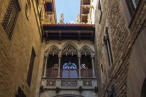 Gothic Quarter of Barcelona in Spain