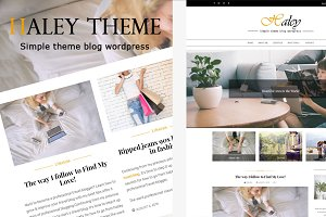 Haleytheme - Simple Blog Wordpress