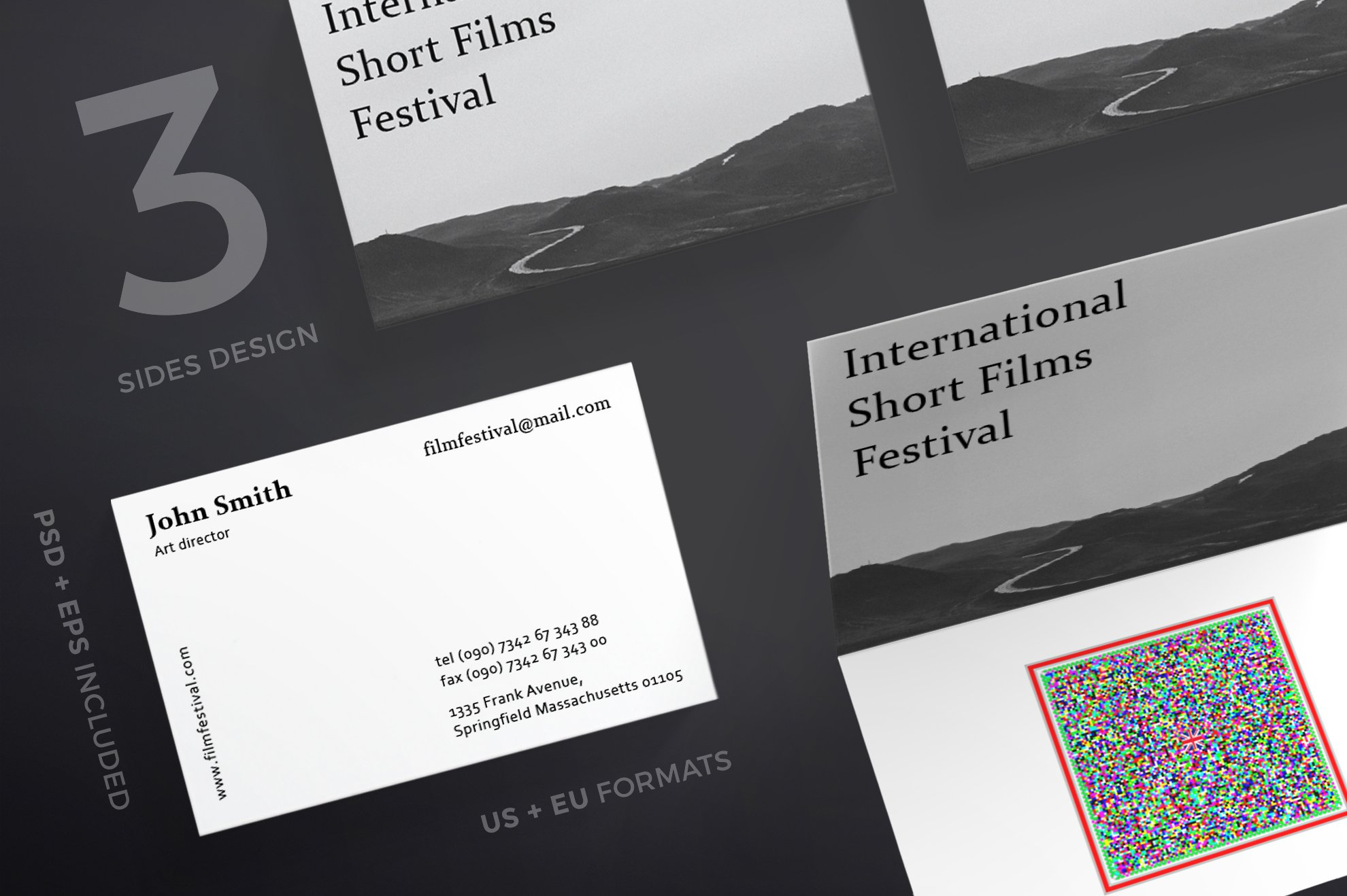 Business cards film festival business card templates creative business cards film festival business card templates creative market reheart Choice Image