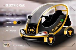 Vector 3d electric car mockup