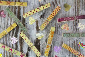 Handmade clothespins