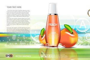 Vector shower orange gel mockup