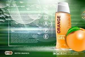 Vector shower gel mockup