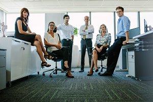 Portrait of corporate professionals