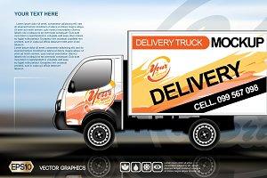 Vector modern truck mockup