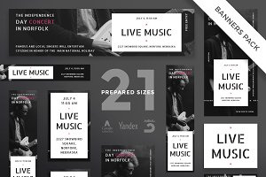 Banners Pack | Live Music