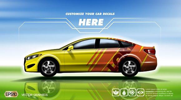Vector Moder Sport Car Mockup Product Mockups Creative Market