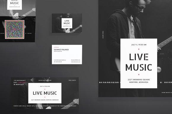 Print Pack | Live Music