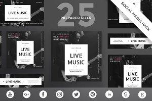 Social Media Pack | Live Music