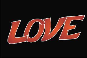 "Decorative text ""love"""
