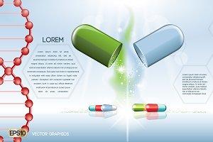 Vector medicine pills mockup