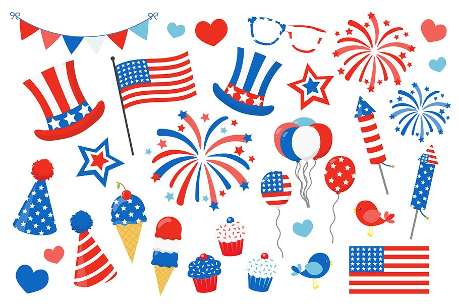 4th of july patriotic. Th clipart