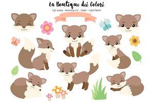 Brown Fox Clipart