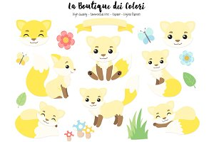 Yellow Fox Clipart