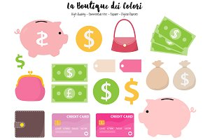 Money - Piggy Bank Clipart