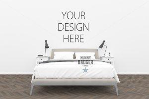 Bedroom mockup - poster mockup