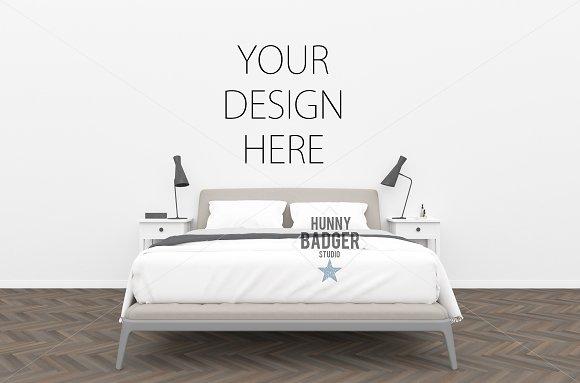 Bedroom Mockup Poster Mockup