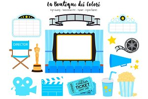 Blue Cinema Clipart