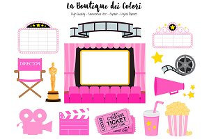 Pink Cinema Clipart