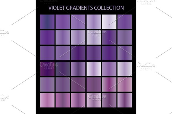 36 Vector Violet Color Gradients
