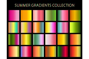 24 vector summer colors gradients