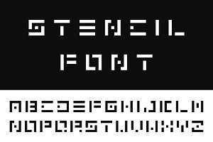 Digital font. English alphabet
